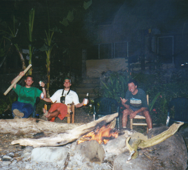 Partying Fireside - Soon after this picture, we went snorkeling for lobsters.  Many got worked on the reef and no lobsters were even spotted!